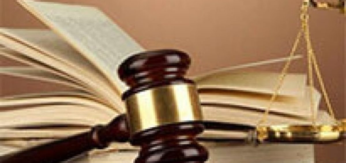 gavel, book and scale